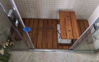 tabureli banyo ızgarası