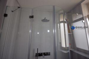 oval camlı özel duşakabin