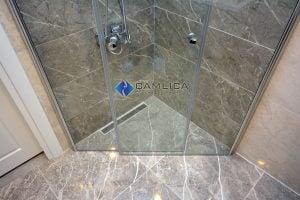 boy menteşeli duş camı hemzemin