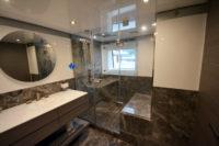 tekne ve yatlar için kilitli duşakabin