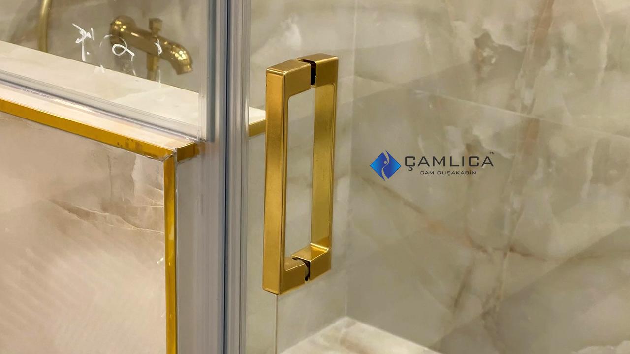 gold duşakabin kulp altın